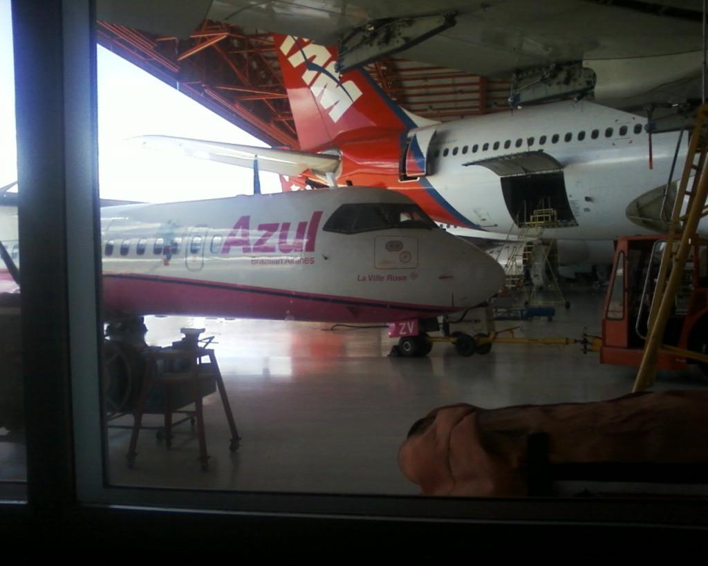Hangar de manutenção de aeronaves