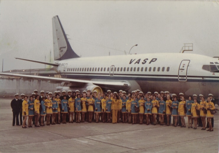 Turma de formandos de comissário e pilotos da VASP