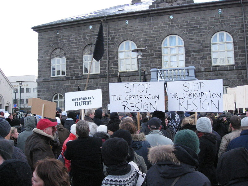 island protests