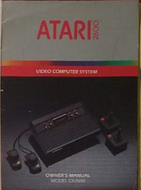 Manual do Atari 2600. Foto: ViniRoger