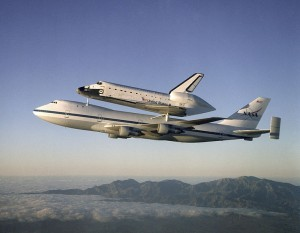 Atlantis on Shuttle Carrier Aircraft