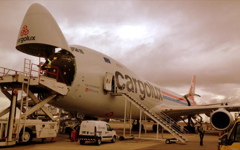 B-747 utilizado como cargueiro