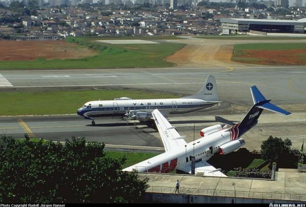 Incidente com Fokker 100 da TAM e Electra da Varig passando atrás