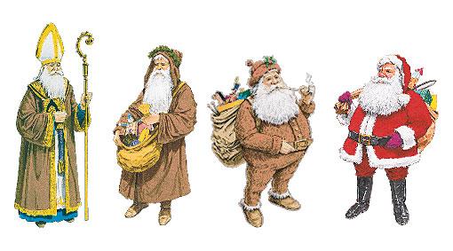 Evolução do Papai Noel. Fonte: Paróquia São José