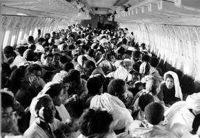 Transporte de passageiros em um Boeing 747 durante a Operação Salomão