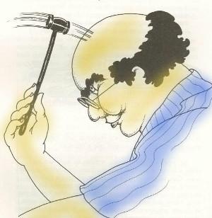 """Ilustração de Claudia Scatamacchia, do livro """"Um 'toc' na cuca"""""""