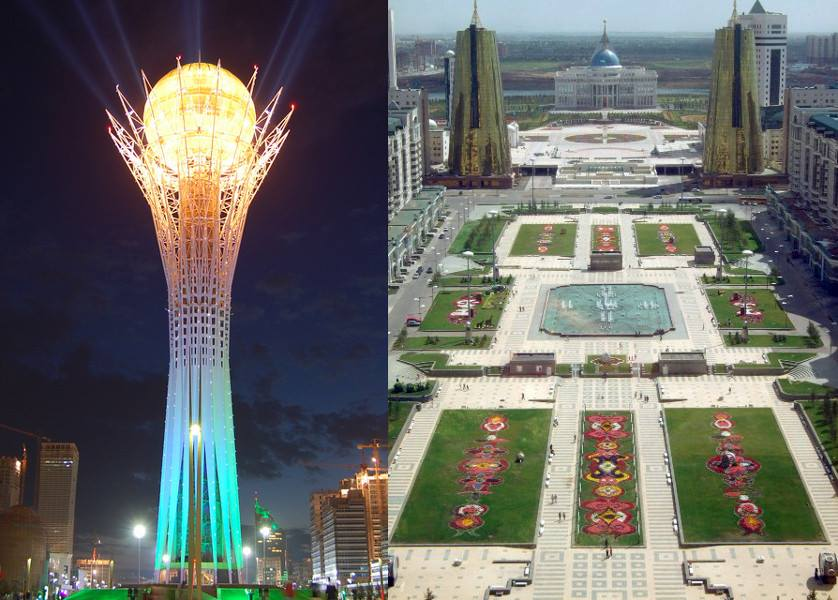 Astana, capital do Cazaquistão.