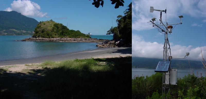 Ponta do Baleeiro e Estação Meteorológica Automática instalada em seu topo.