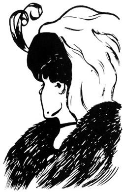 Criada em 1915 pelo cartunista W. E. Hill, esta figura mostra duas imagens que podem ser vistas: uma garota, posicionada de perfil olhando para longe, ou o rosto de uma senhora idosa que olha para o chão.