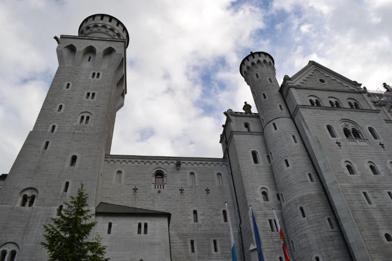 Castelo de Neuschwanstein visto de perto.