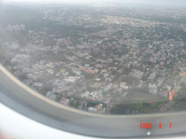 Vista aérea de Chennai.