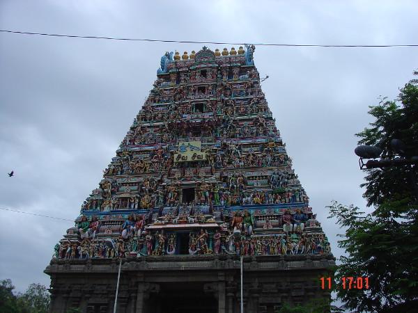 Uma das capelas do templo de Kapaleeswarar.