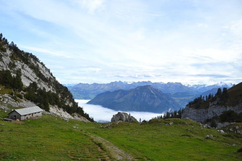 Vista durante subida de trem ao Monte Pilatus (Lucerna).