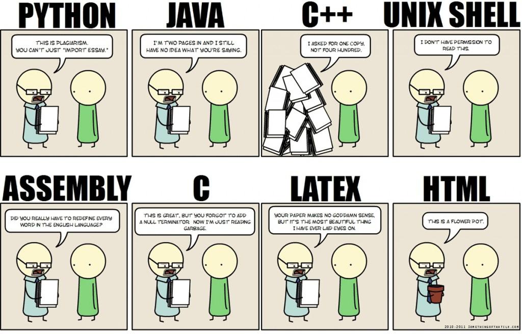 Exemplos de linguagens de programação utilizadas para um mesmo trabalho. Fonte: Learnpact(http://blog.learnpact.com/best-programming-language-to-get-a-job/).