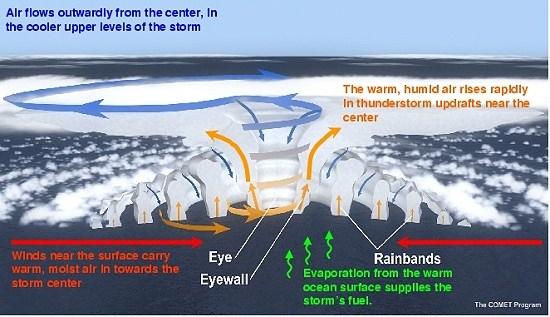 Estrutura de um furacão