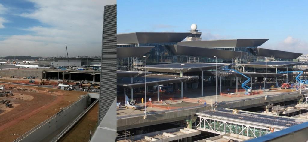 Obras do terminal 3 de GRU, vistas do edifício garagem (foto: ViniRoger)