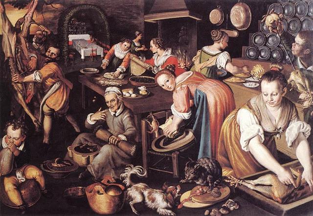 Cozinha (Vincenzo Campi, pintor italiano, 1536 – 1591). Veja mais quadros de comidas no blog It's About Time