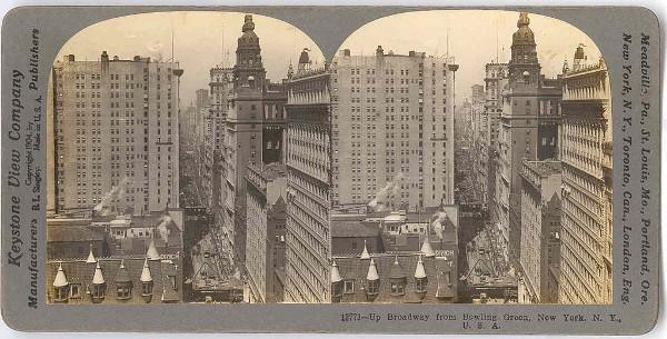Par estereoscópico de imagens da cidade de Nova York. Fonte: Rubylane.
