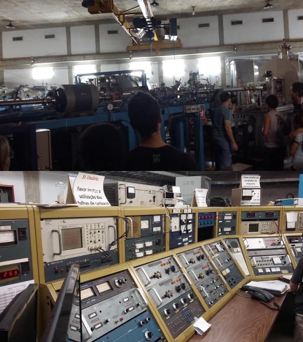 Detectores e sala de controle