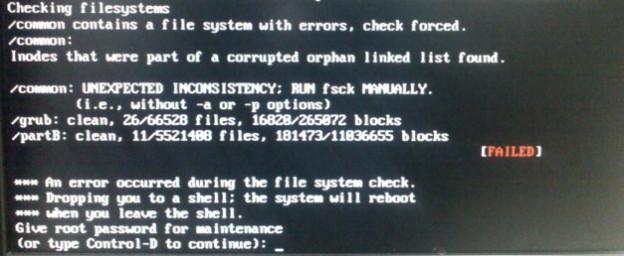 error fsck