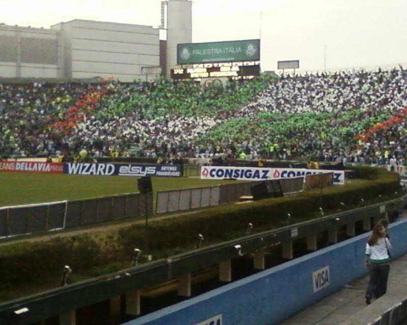 Torcida durante último jogo do Estádio Palestra Itália: Palmeiras x Boca Juniors.