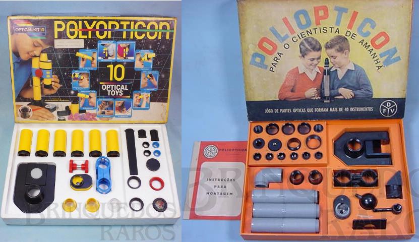 Poliopticon (versão mais atual e mais antiga). Fonte: Brinquedos Raros