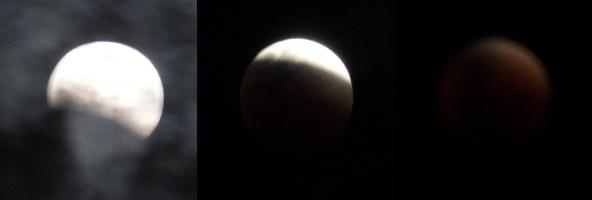 Eclipse da Super Lua de 27/09/2015 às 22:30, 23:00 e 23:15. Fotos: ViniRoger.