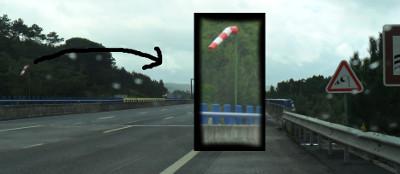 Em regiões com ocorrência de vento lateral (geralmente vales), além da sinalização, existe uma biruta (ou manga de vento, em Portugal) para indicar a direção do vento e se está forte ou fraco.