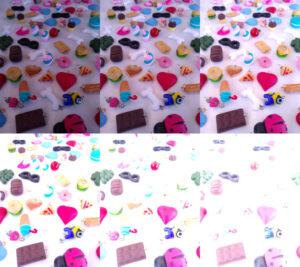 Mudança na ISO: 100, 200, 400, 800, 1596 e 3193. Fotos: ViniRoger com pingentes da Criando com Clay