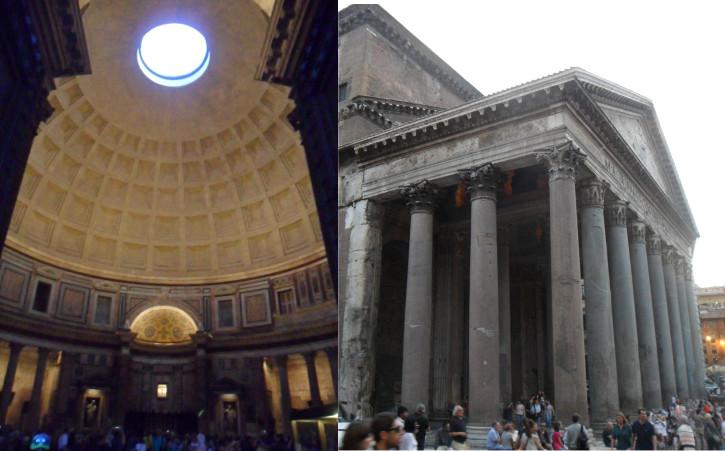 Panteão (parte interna e externa). Fotos: ViniRoger.