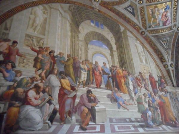 Pintura de Rafael, A Escola de Atenas (1509). Foto: ViniRoger.