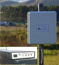 Antena e interface VLF. Fotos: Laboratório Storm-T.