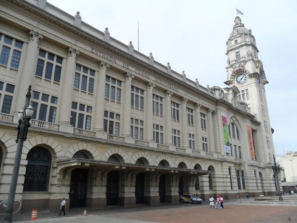 Vista lateral do prédio da estação Júlio Prestes (atual Sala São Paulo). Foto: ViniRoger.