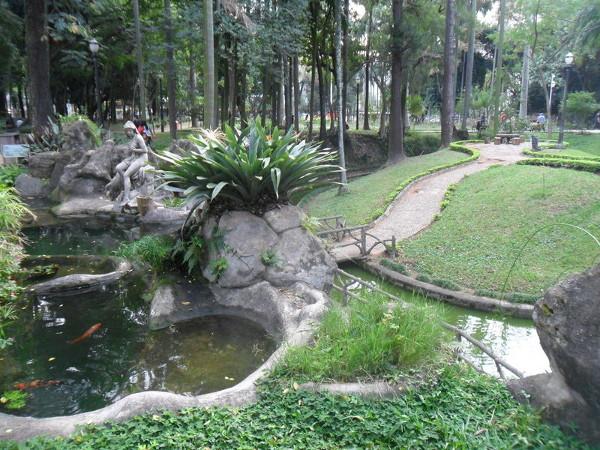 Lago da Diana (deusa romana da caça e dos bosques) - aquário fica embaixo. Foto: ViniRoger.