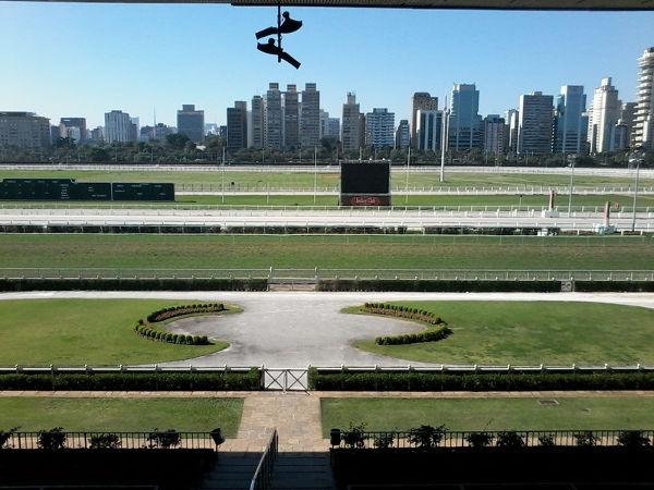 Vista das pistas de corrida na altura da linha de chegada a partir da tribuna de honra. Foto: ViniRoger