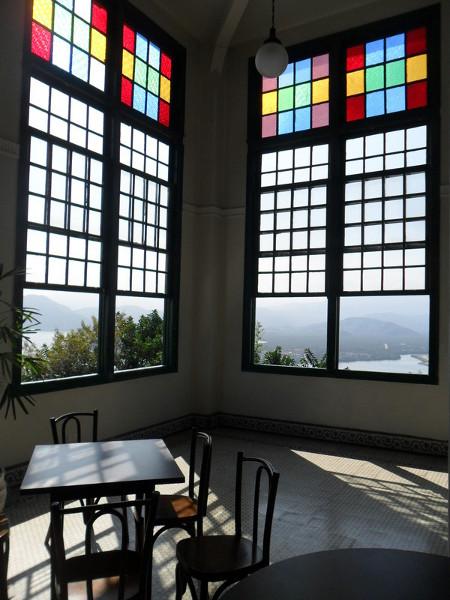 Vista de Santos a partir do antigo cassino (atual café) no topo do Monte Serrat. Foto: ViniRoger.