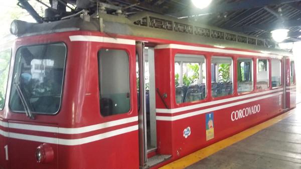 Trem do Corcovado na estação Cosme Velho. Foto: ViniRoger