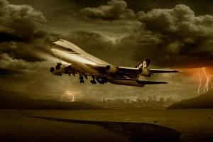 airplane thunderstorm