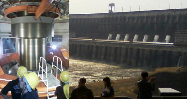 Turbina e Barragem da UHE Itaipu. Fotos: ViniRoger.