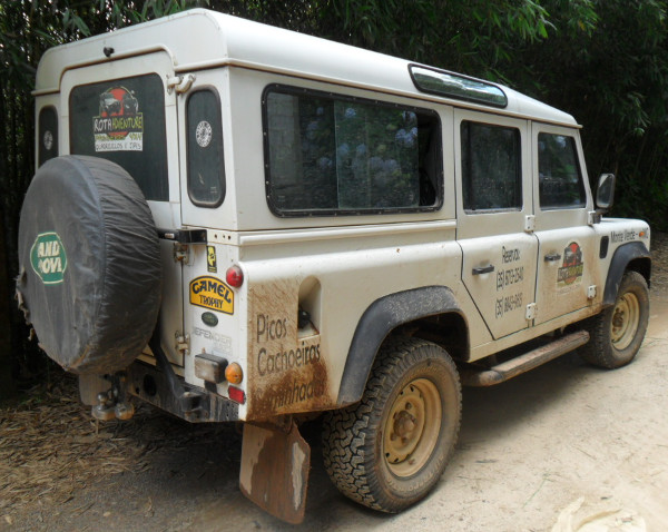 Land Rover usada nos passeios. Foto: ViniRoger.
