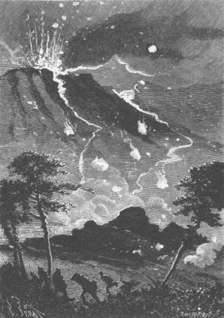 """La position n'était plus tenable - Jules-Descartes Férat (ilustração para o livro """"A ilha misteriosa"""")"""