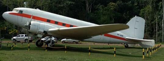 DC-3 no aeroporto de Parauapebas/PA. Foto: Melão.