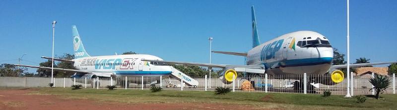 Aviões da Vasp comprados em leilão e expostos em Araraquara/SP. Foto: Eliana Reis/2016