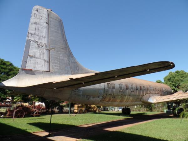 Avião DC-6 do Museu Eduardo Matarazzo. Foto: ViniRoger