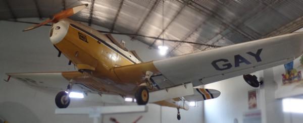 Fairchild PT-19 exposto no Museu Eduardo Matarazzo. Foto: ViniRoger