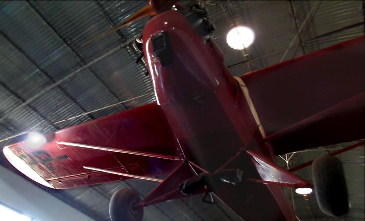 Avião HL-1 exposto no Museu Eduardo Matarazzo. Foto: ViniRoger
