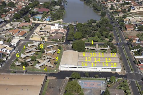 Foto aérea do Museu