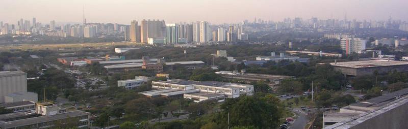 Cidade Universitária vista do topo do Pelletron (IF-USP). Foto: ViniRoger
