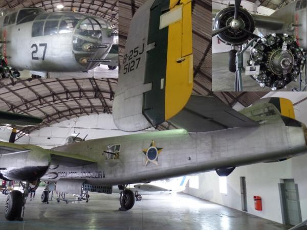 B-25J da FAB no Museu Aeroespacial. Foto: ViniRoger