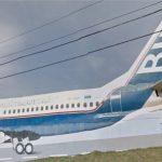 Boeing 737 PP-VNX da Sucatas Bim. Foto: Street View